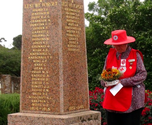 2015 Remembrance Day - Sandra Hausler - Eudunda Red Cross