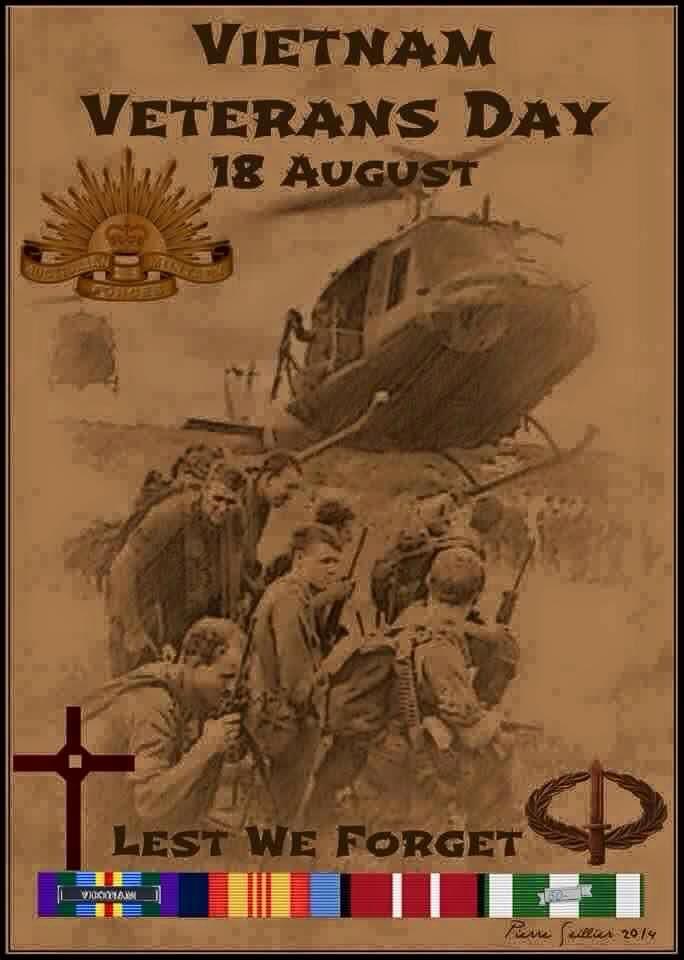 18th August Vietnam Veterans Day