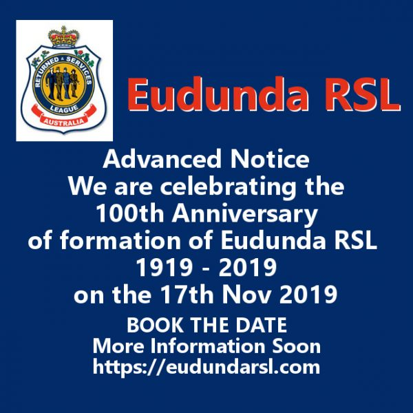 Preparations for Eudunda RSL 100th Anniversary Under Way
