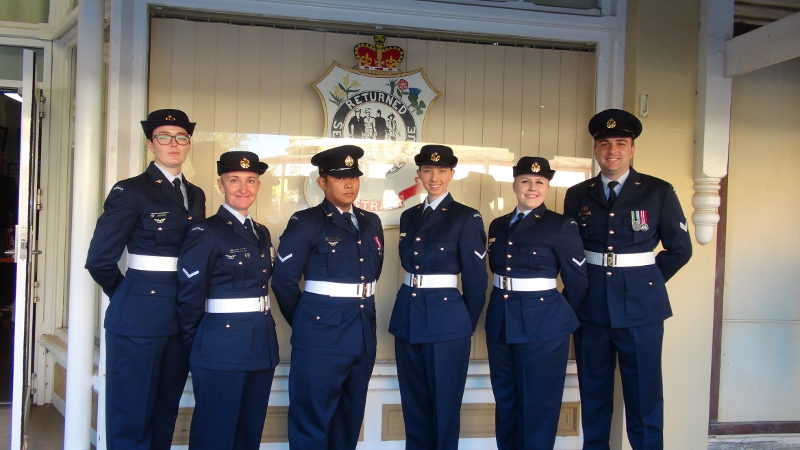 A Crew - No.1 Remote Sensor Unit, RAAF Edinburgh formed Catafalque Party