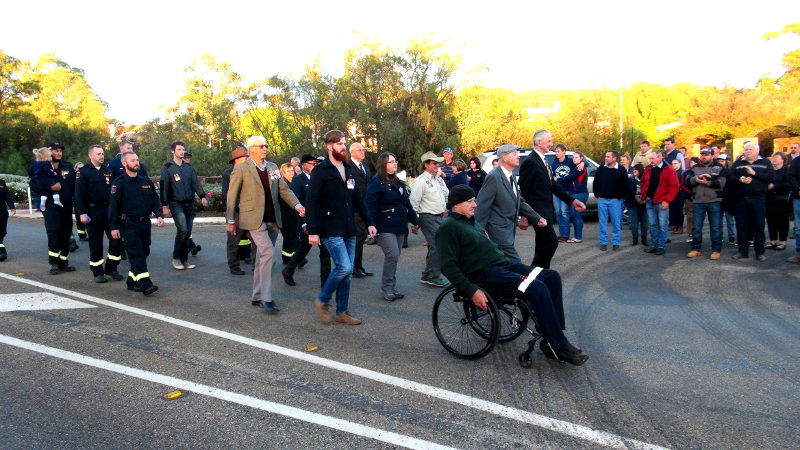 March 5 - Service personnel march to the RSL Rooms