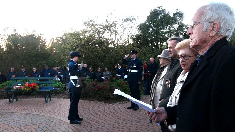 Singing National Anthem during ANZAC Dawn Service at Eudunda 2019