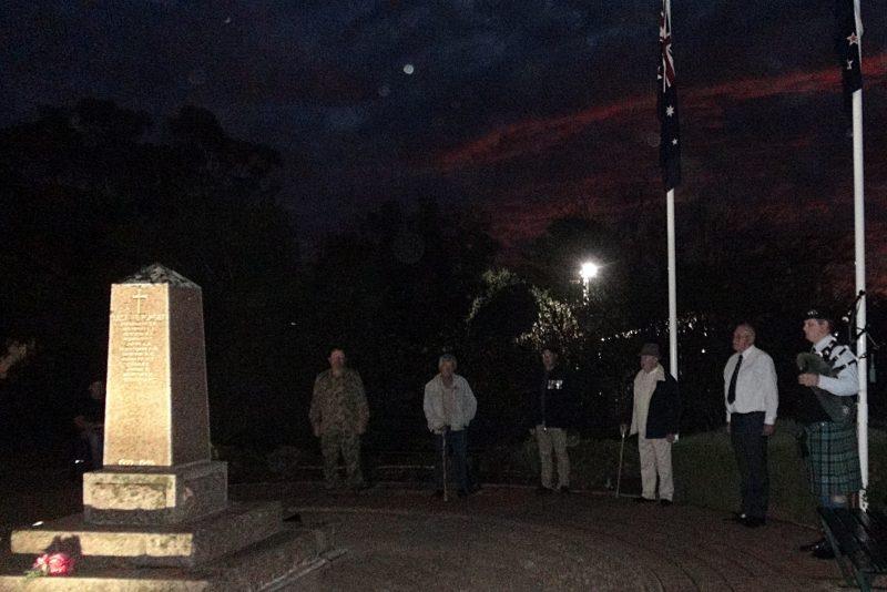 Eudunda RSL Members Commemorate ANZAC Dawn Service in Social Distancing